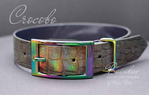 Croco dog collar