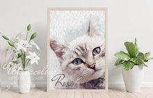 Load image into Gallery viewer, Custom Cat Portrait from Photo - Watercolour