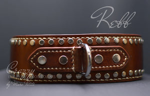 Collar for extra large & strong dogs with rivets