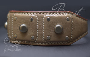 Handmade leather collar for large breeds