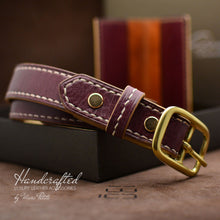 Load image into Gallery viewer, Leather Gift Packs: belt and cardholder