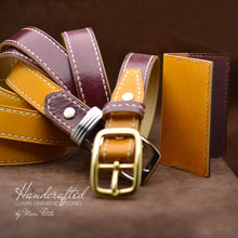 Load image into Gallery viewer, Leather Gift Pack: Belt & Cardholder