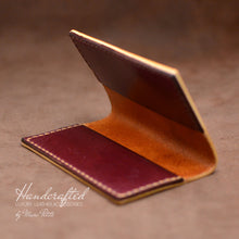 Load image into Gallery viewer, Burgundy Full Grain Leather Cardholder