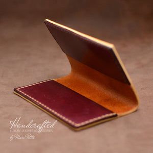 Burgundy Full Grain Leather Cardholder