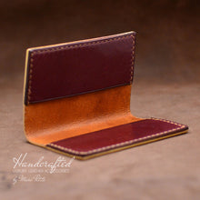 Load image into Gallery viewer, Handcrafted Full Grain Leather Cardholder