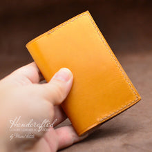 Load image into Gallery viewer, Handcrafted & Hand Sewn Full Grain Leather Cardholder