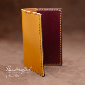 Yellow Mustard Full Grain Leather Cardholder