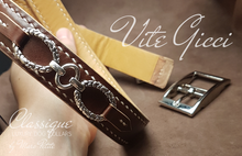 Load image into Gallery viewer, Handmade vegetal leather dog collar