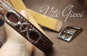 Handmade vegetal leather dog collar