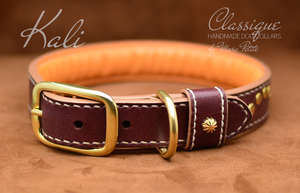 vegetable leather dog collar