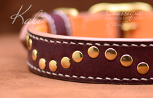 Load image into Gallery viewer, hand sewn dog collar