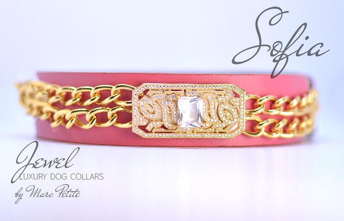 Royal  Dog Collar - Rose 24K Gold - Marc Petite
