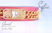 Load image into Gallery viewer, Designer Dog Collar - Rose 24K Gold - Marc Petite