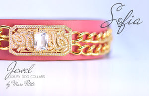 Designer Dog Collar - Rose 24K Gold - Marc Petite