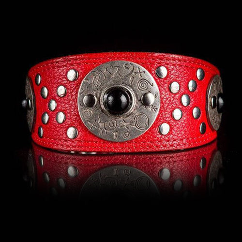 Jewelled Red Greyhound Collar Celtic Style