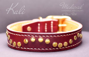 Vegetable tanned leather collar