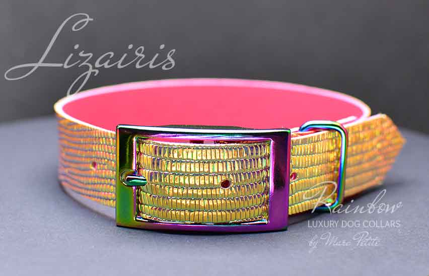 Fashion dog collar croco leather