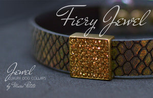 Luxury Fashion Dog Collar by Marc Petite
