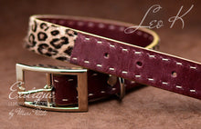 Load image into Gallery viewer, Exotic Leopard Fur leather Dog Collar