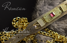 Load image into Gallery viewer, Real Diamond Gold Dog Collar
