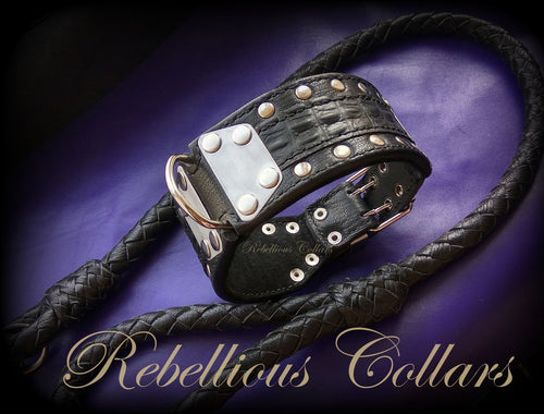 Medieval Croco Rebellious Dog Collar