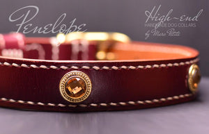 Handmade leather collar