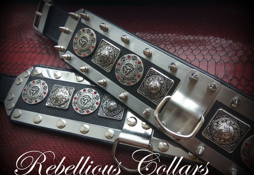 Rebellious Knightly Dog Collar with Spikes