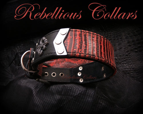 Rebellious Red Iguana Dog Collar