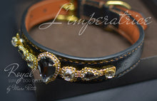 Charger l'image dans la galerie, Luxury leather dog collar with crystals - Bling Collars- Marc Petite