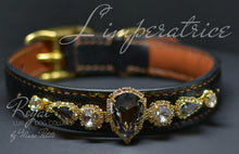 Charger l'image dans la galerie, Royal dog collar with large crystals - Bling Collars- Marc Petite