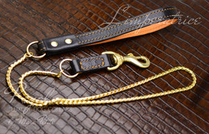 Dog Show Leash gold plated snake chain
