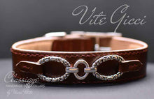 Load image into Gallery viewer, Handmade &  Hand sewn High-end vegetal leather dog collar