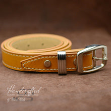 Load image into Gallery viewer, Yellow Mustard Leather Belt with Stainless Steel Buckle