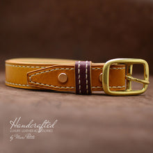Charger l'image dans la galerie, Handmade Yellow Mustard Leather Belt
