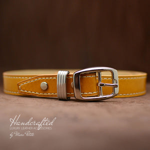 Handmade Yellow Full Grain Leather Belt