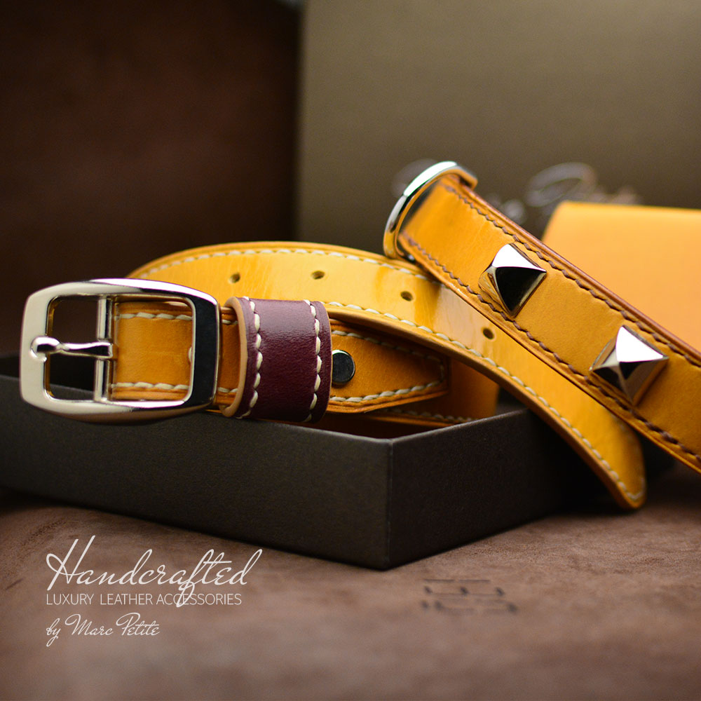 Leather Gift Pack: Belt + Cardholder + Dog Collar + Dog Leash