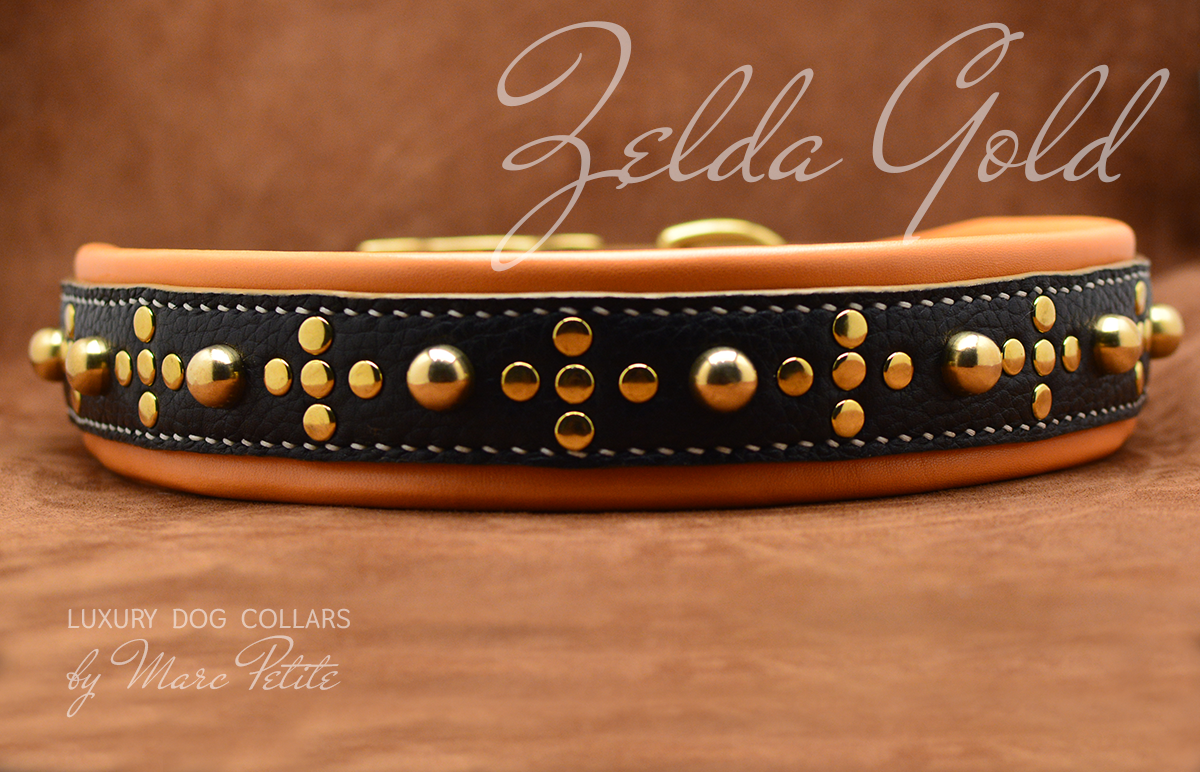 Extra large leather dog collar