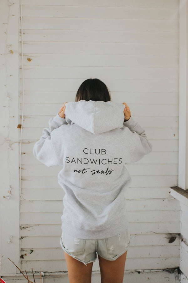 Club Sandwiches, Not Seals Hoodie - Grey