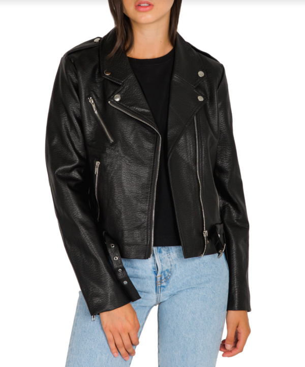 The Florence Pleather Moto Jacket
