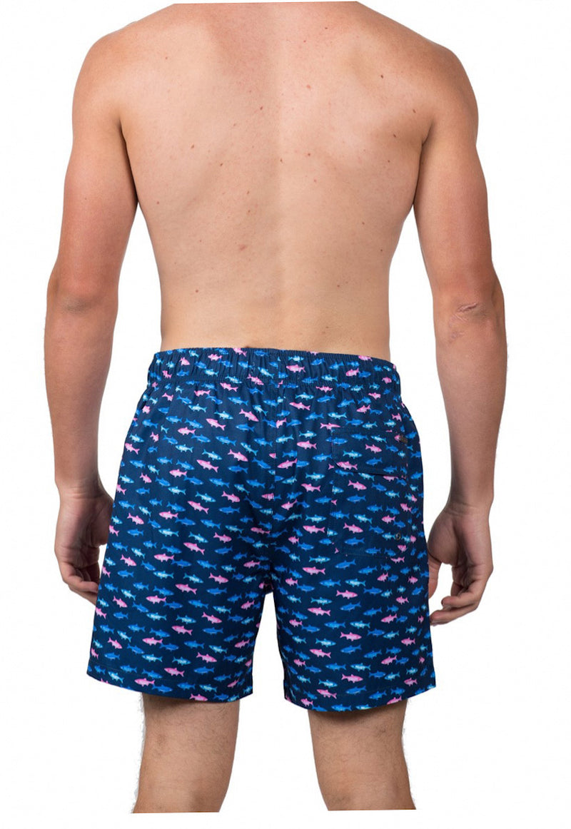 Multi Fish Swim Trunk