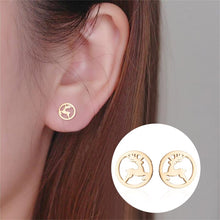 Load image into Gallery viewer, Reindeer Stud Earrings