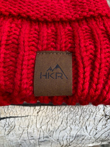 Knitted Beanie - Red