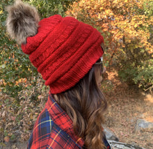 Load image into Gallery viewer, Knitted Beanie - Red