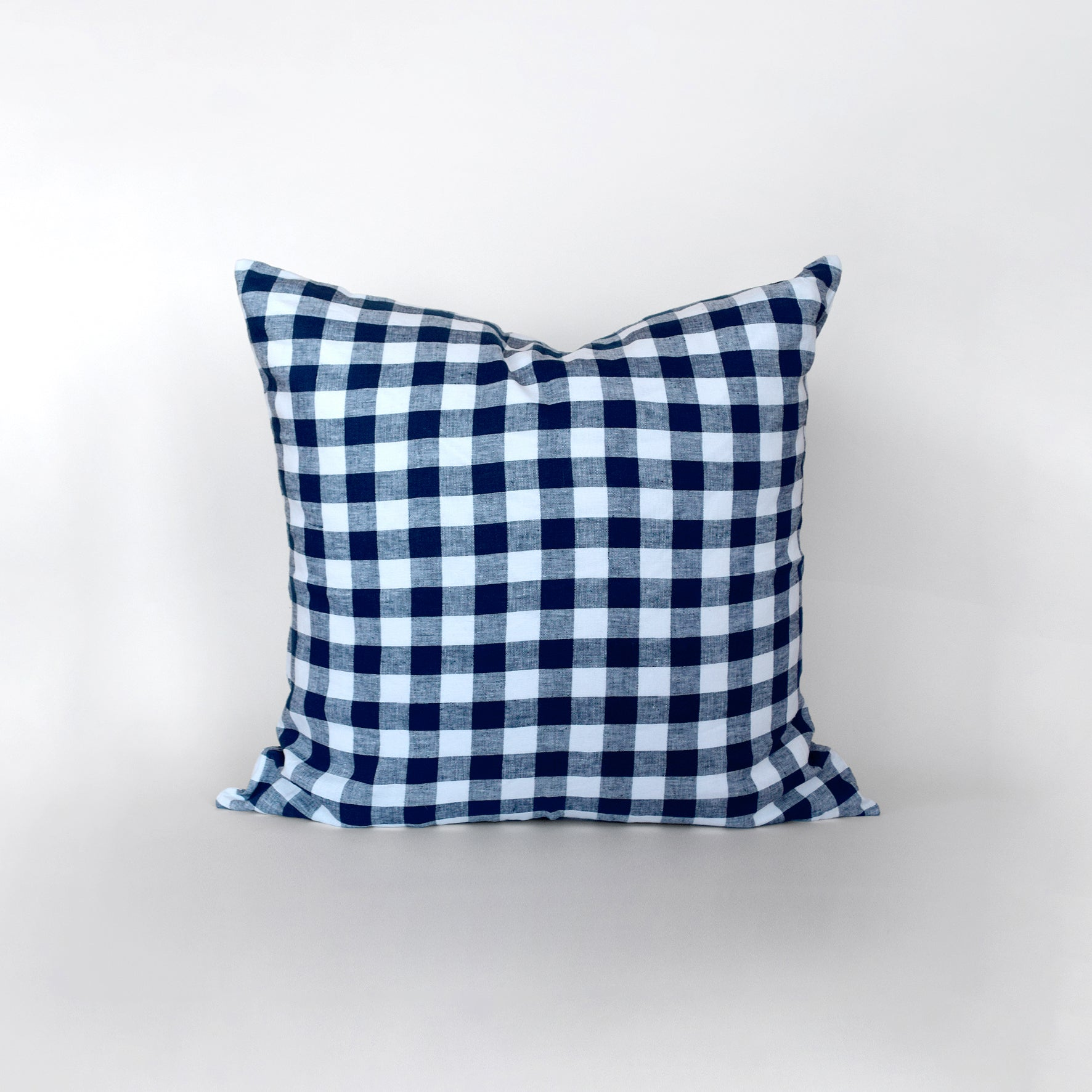 Checkmate European Linen Pillowcase - Indigo
