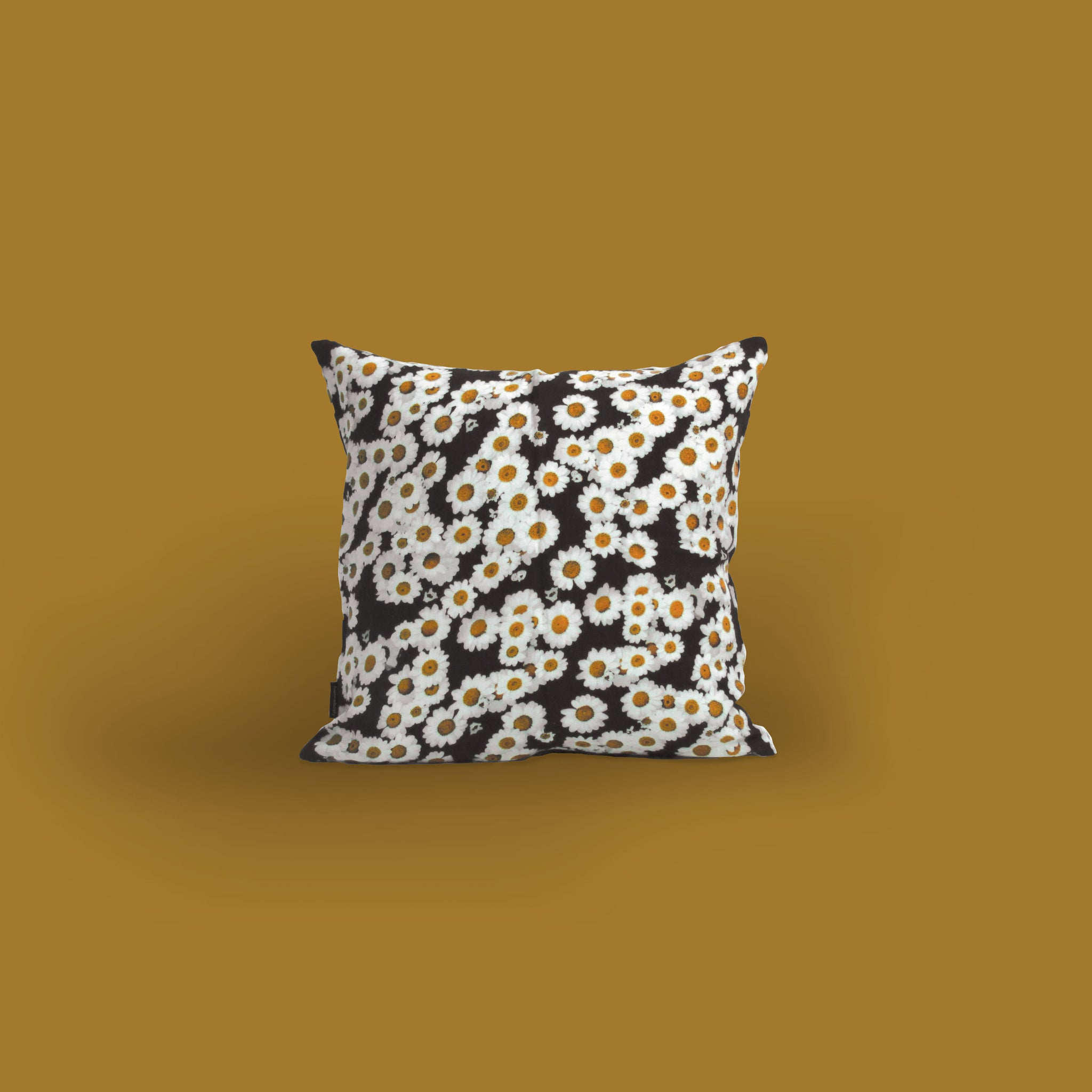 homebody daisy print linen cushion cover