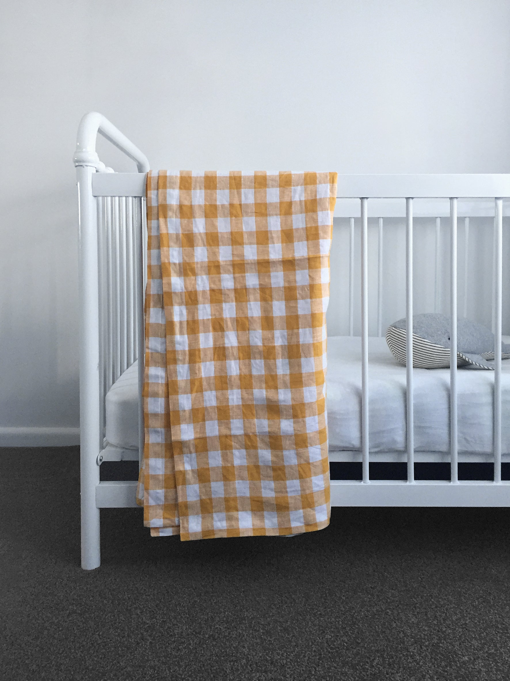 Checkmate Linen Throw - Marigold Gingham