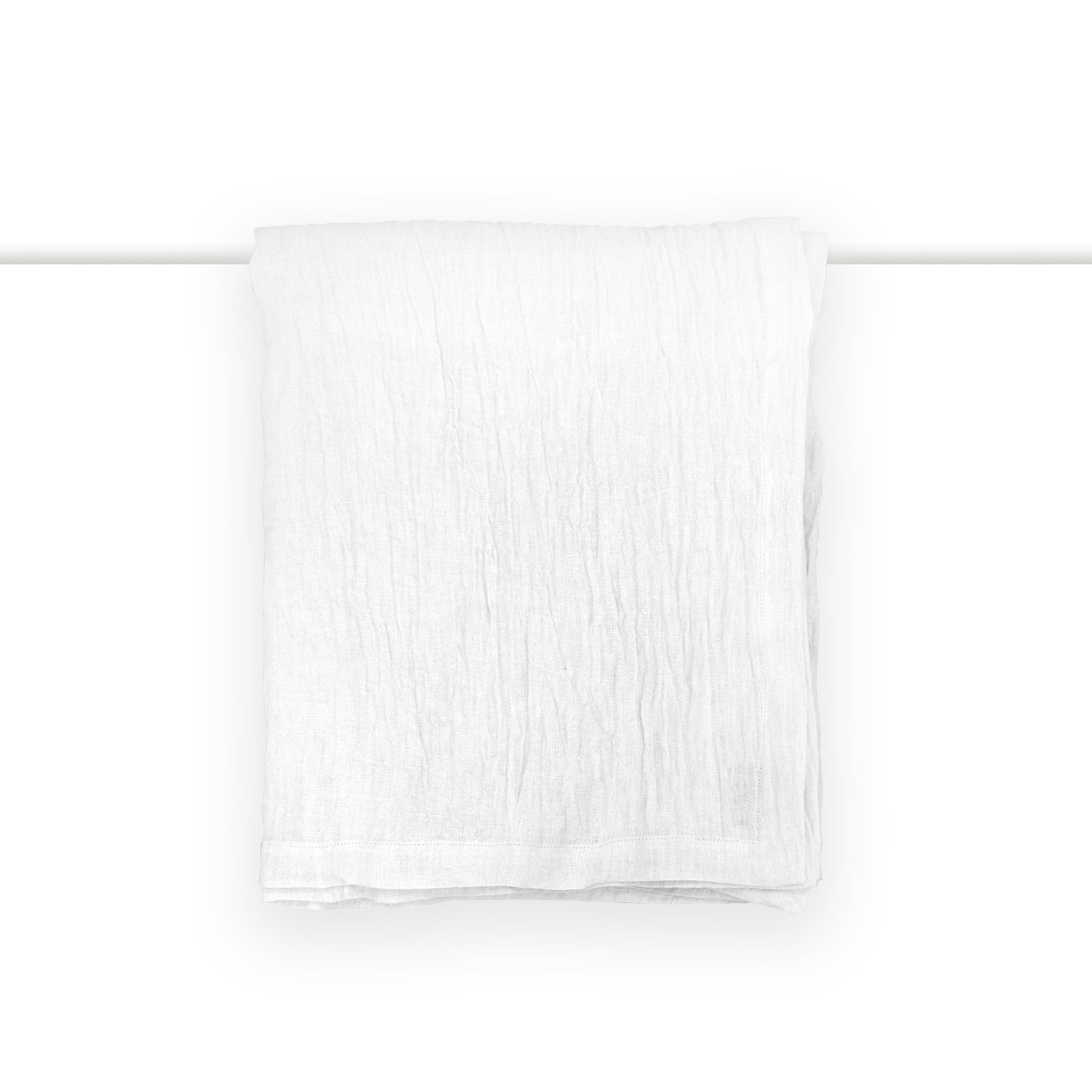 Orinoco Textured Linen Throw - White