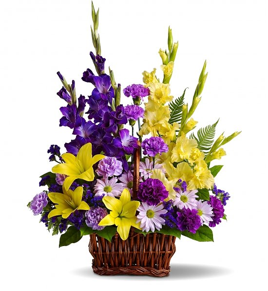 Basket of Memories Elegant Flower Bouquet