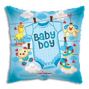 Baby Boy Clothes Foil Mylar Balloon
