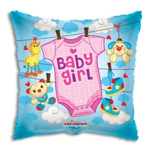 Baby Girl Clothes Foil Mylar Balloon